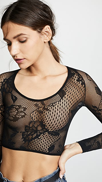 SPANX Fishnet Floral Arm Tights