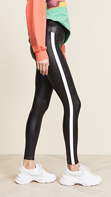 Spanx Faux Leather Side Stripe Leggings Shopbop