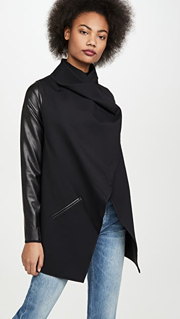 SPANX Faux Leather Convertible Jacket