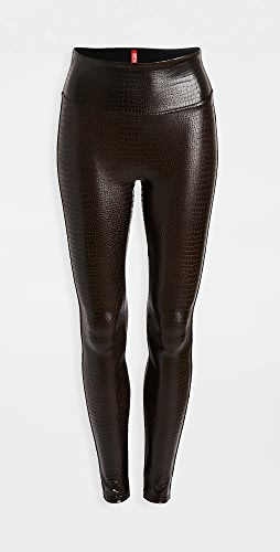 SPANX - Faux Leather Croc Leggings