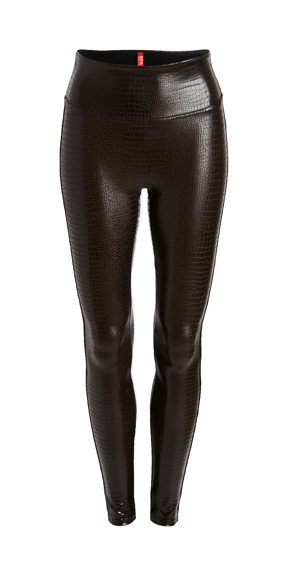 SPANX Faux Leather Croc Leggings
