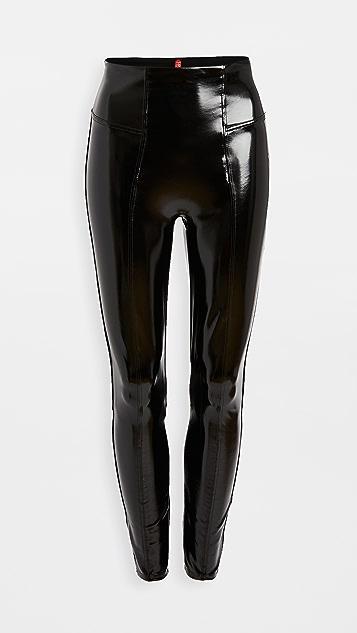 SPANX 人造漆皮贴腿裤