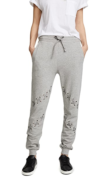 South Parade Zigzag Lace Up Sweats