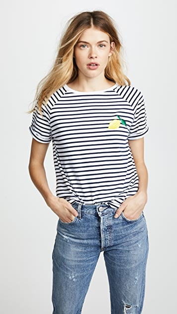 South Parade Lemon Striped Tee