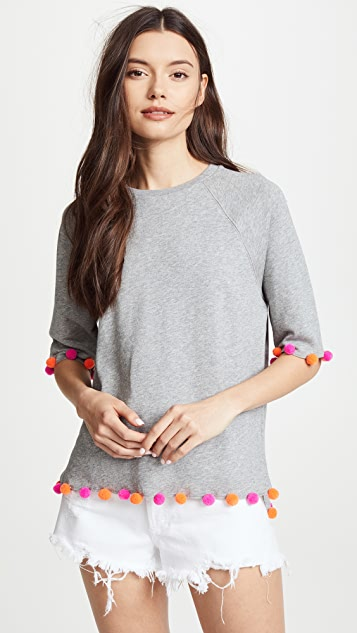 South Parade Short Sleeve Sweatshirt with Pom Poms
