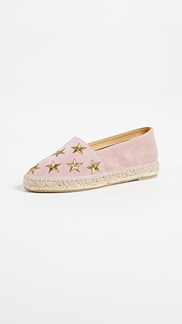 South Parade Stars Espadrilles - Blush/Gold