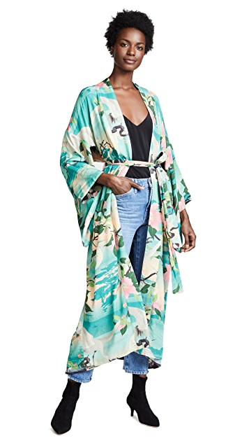 Spell and the Gypsy Collective Nightingale Reversible Maxi Kimono