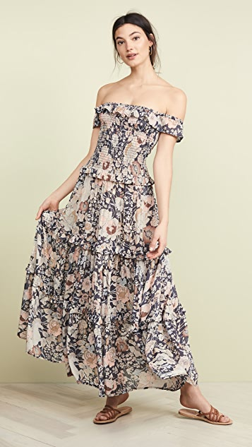 Spell and the Gypsy Collective Amethyst Shirred Sundress