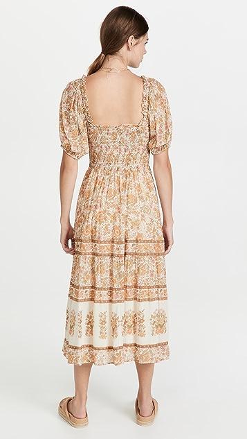 SPELL Juniper Shirred Dress