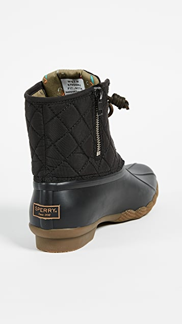 Sperry Saltwater Quilted Duck Booties
