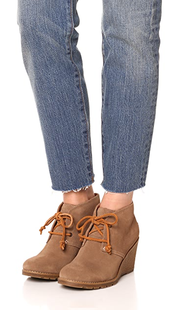 Sperry Stella Prow Wedge Lace Up Booties
