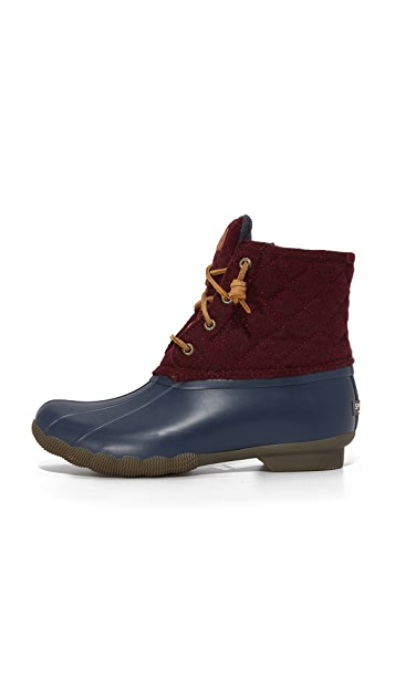 Sperry Saltwater Quilted Wool Booties