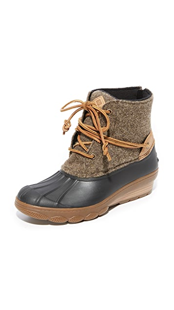 Sperry Saltwater Wedge Tide Wool Booties