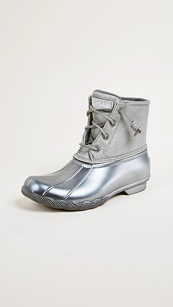 Sperry Saltwater Pearlized Rain Boots - Gunmetal