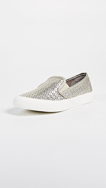Sperry Seaside Nautical Perf Slip On Sneakers