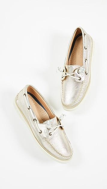 Sperry A/O Vida Metallic Boat Shoes