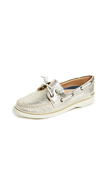 Sperry A/O Vida Metallic Boat Shoes