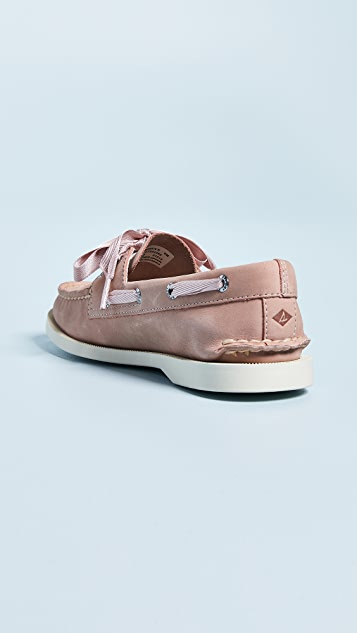 Sperry Satin Lace Boat Shoes