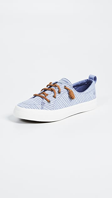 Sperry Crest Vibe Chambray Stripe Sneakers
