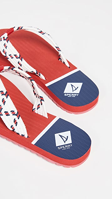 Sperry Edgewater Woven Thong Sandals