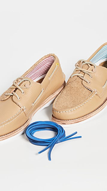 Sperry A/O 3-Eye Suede Boat Shoes