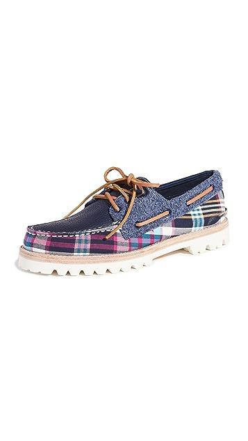 Sperry A/O 3-Eye Plaid Lug Boat Shoes