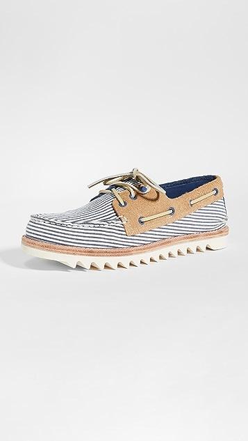 Sperry A/O 3-Eye Seersucker Boat Shoes
