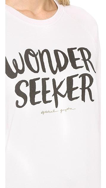 Spiritual Gangster Wonder Seeker Burnout Shrunken Sweatshirt