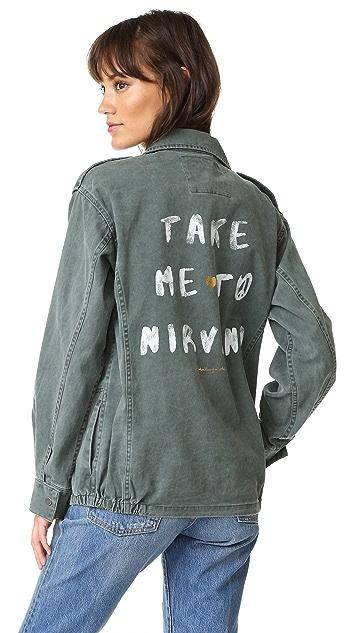 Spiritual Gangster Take Me To Nirvana Army Jacket