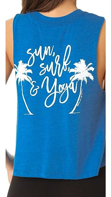 Spiritual Gangster Sun Surf Yoga Crop Tank