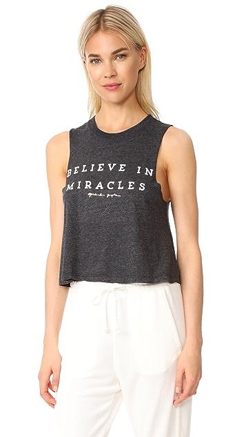Spiritual Gangster Believe In Miracles Crop Tank