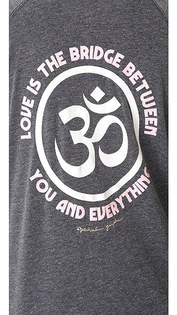 Spiritual Gangster Love is the Bridge Dharma Zip Hoodie