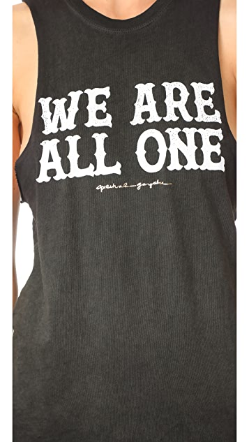 Spiritual Gangster We Are All One Rocker Tank