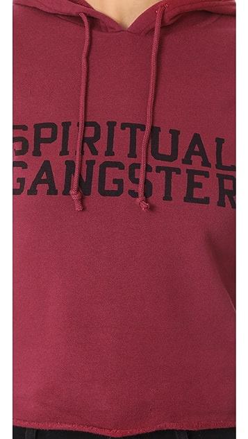 Spiritual Gangster SG Varsity Cropped Hoodie