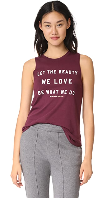 Spiritual Gangster The Beauty We Love Muscle Tank