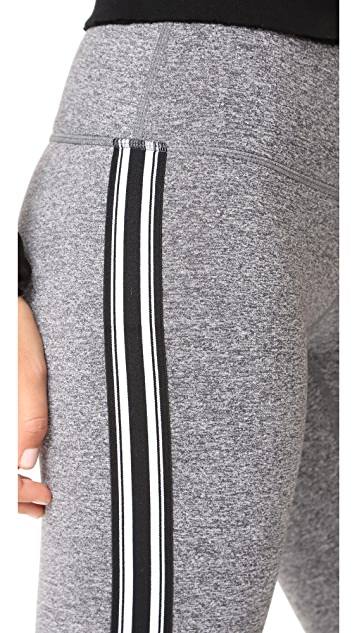 Spiritual Gangster Athletic Stripe Practice Leggings