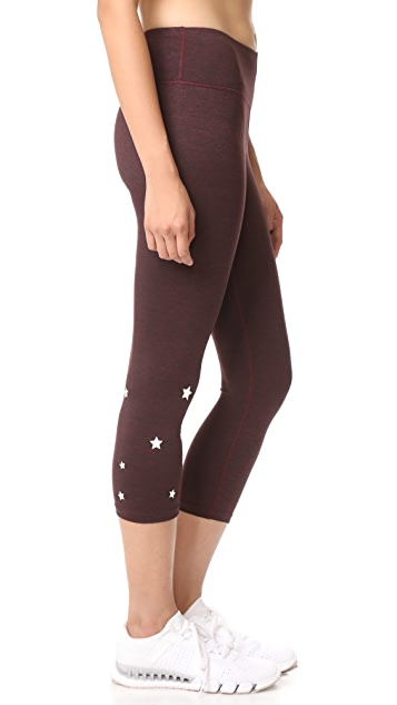 Spiritual Gangster Stars Power Crop Leggings