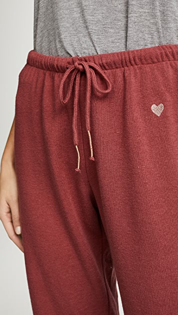 Spiritual Gangster Heart Embroidery Favorite Sweatpants