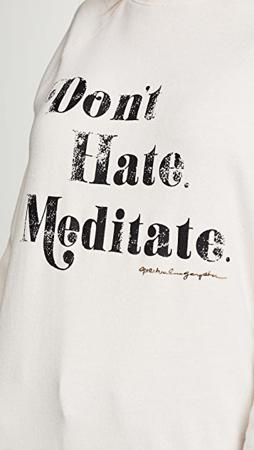 Spiritual Gangster Meditate Old School Pullover