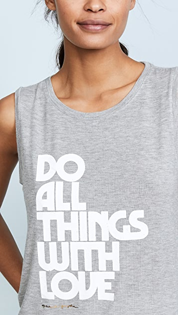 Spiritual Gangster Do All Things with Love Tank