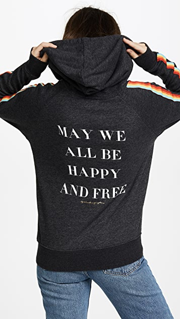 Spiritual Gangster May We All Be Happy & Free Hoodie