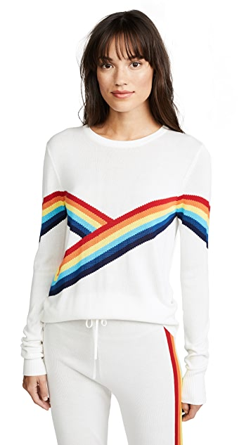 Spiritual Gangster x Madeleine Thompson Rainbow Bebe Top
