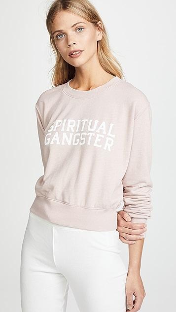 Spiritual Gangster Varsity Crop Crew Sweatshirt