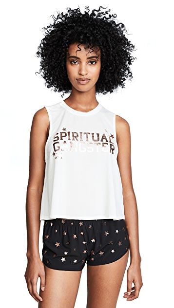 Spiritual Gangster Varsity Active Crop Tank Top
