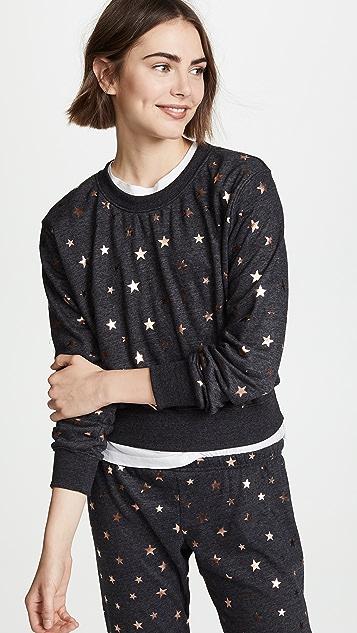 Spiritual Gangster Stars Crop Crew Sweatshirt