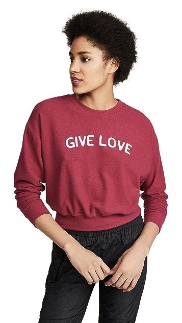 Spiritual Gangster Give Love Cozy Crew Neck Sweatshirt