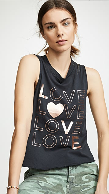 Spiritual Gangster Love Surplice Back Swing Tank