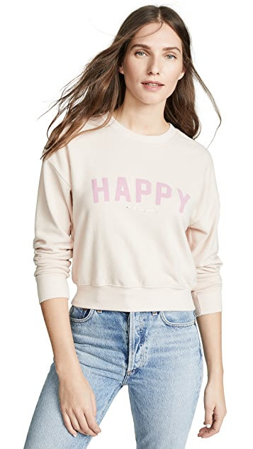 Spiritual Gangster Happy Malibu Crew Neck Sweatshirt