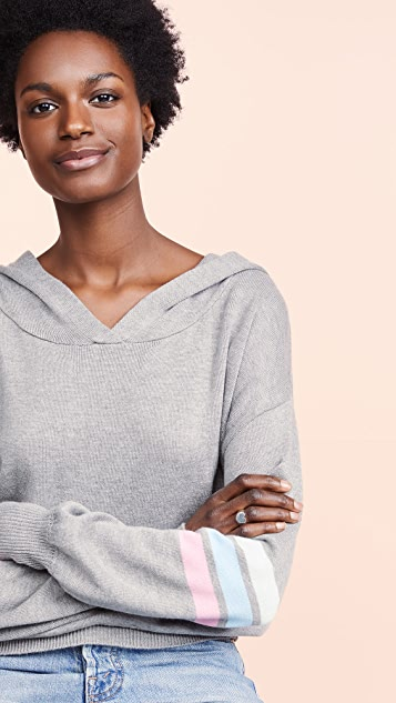 Spiritual Gangster Stripe Mia Hooded Sweater