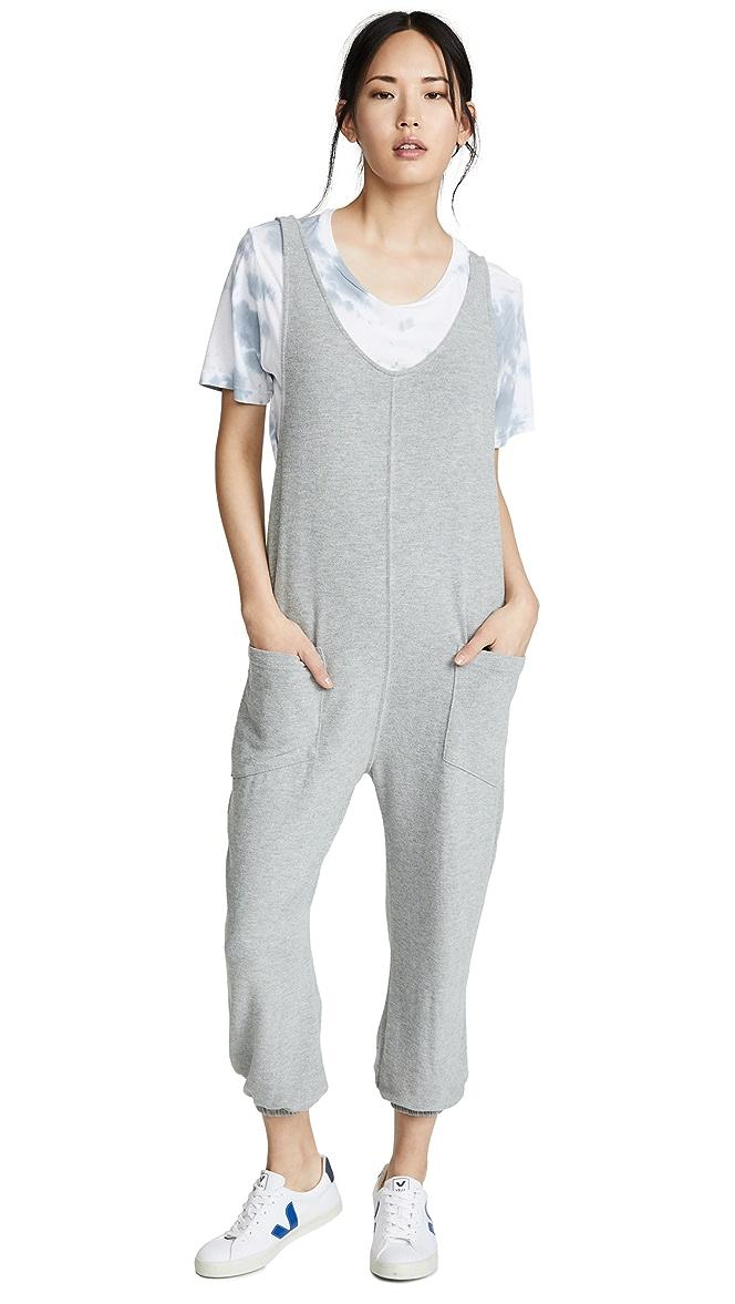 Spiritual Gangster Girls Hacci Jumpsuit Grey L-14